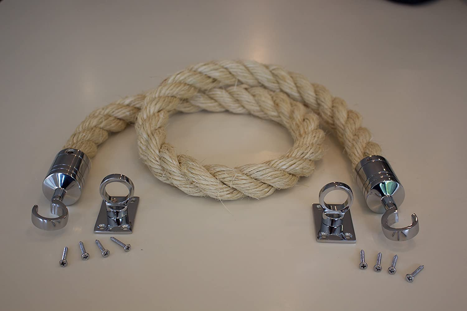 3 Mtr Decking Rope System 2 End Hooks & Fixing Plates Unbranded