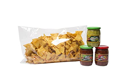 aperisnack® – snack2142-bs – Nachos Gusto Paprika, + 3 salsas Sabores Surtidos