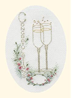 VAT Free Mouseloft Counted Cross Stitch Greeting Card Kit 21st Birthday Card New