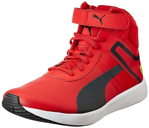 089fda2f53d Puma Men s SF F116 Boot Rosso Corsa Black White Sneakers-8 UK India ...