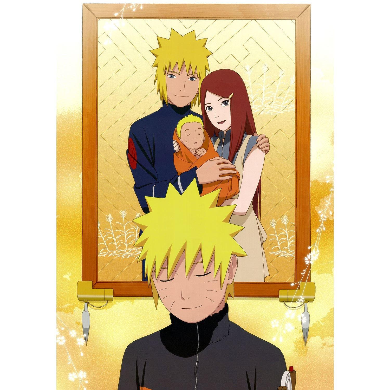 Poster Cartel Manga De Naruto Ninja Álbum Familiar De Los ...
