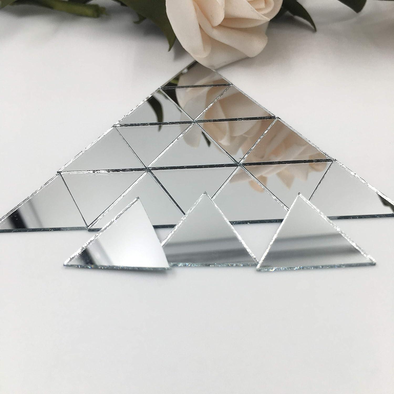 "1"" Triangle Mirror Mosaic Tiles Triangular Shape Craft Mirrors 150pcs"