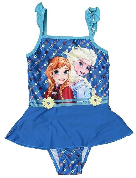 0a5641dd021a Disney Frozen - Costume Intero con Volant Mare Piscina - Elsa e Anna -  Bambina - Novità Prodotto Originale 33249D [Blu - 6 anni]: Amazon.it:  Abbigliamento