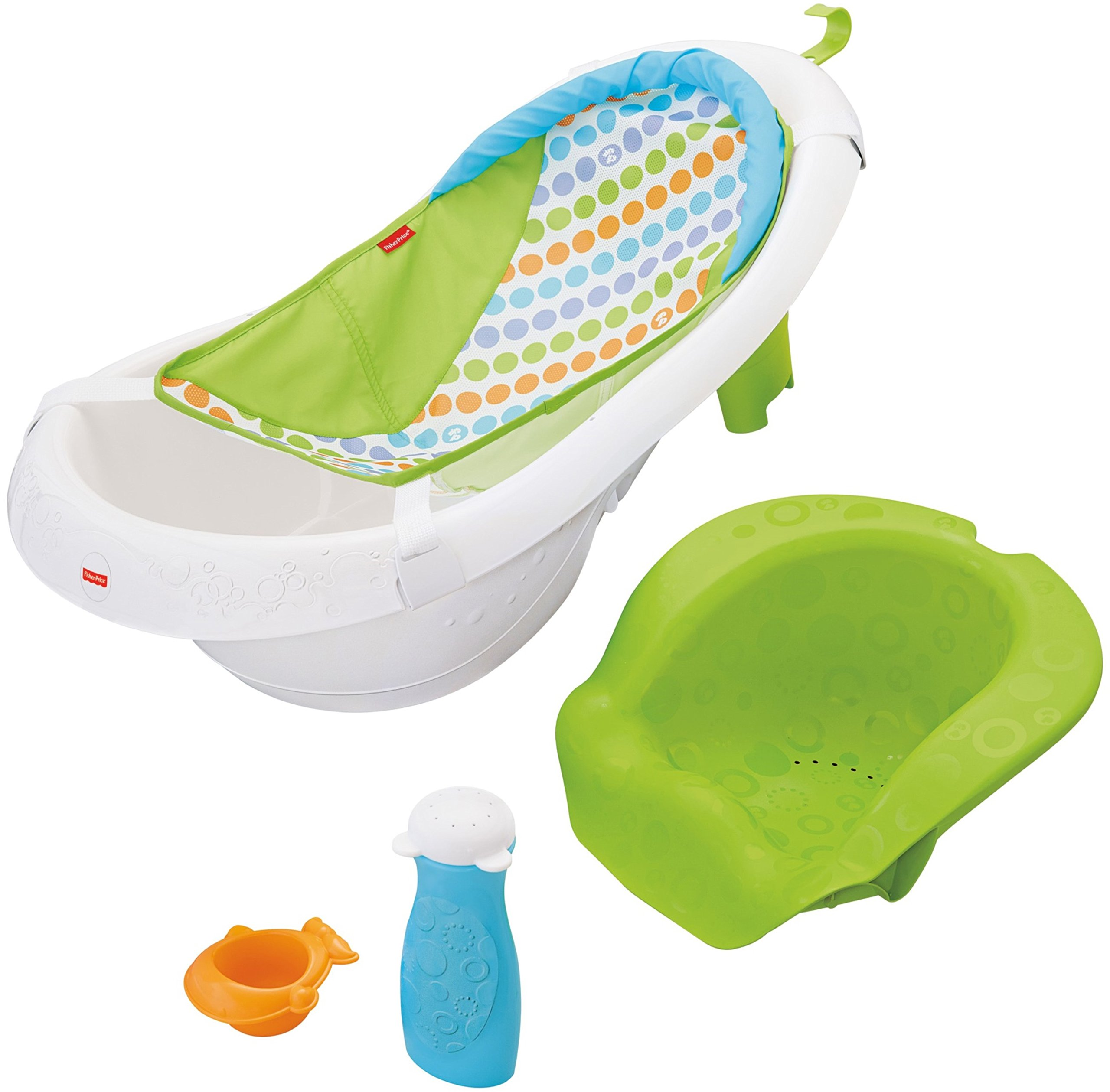 Fisher-Price 4-in-1 Sling N Seat Tub, Multi color