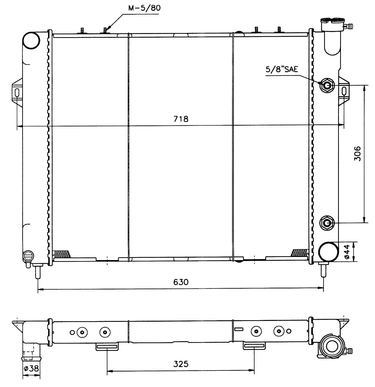 refrigeraci/ón del motor NRF 50202 Radiador
