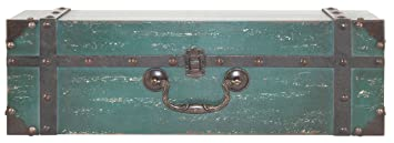 MCS 18 Inch Vintage Suitcase Wall Shelf, Green (45887)