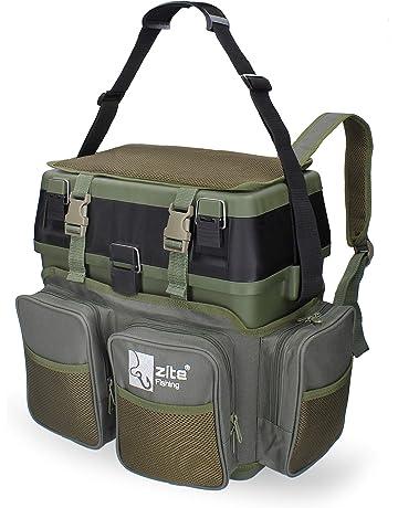 Angelgerät Tasche Tackle Box Köder Behälter Fischen Tasche Armee Grün