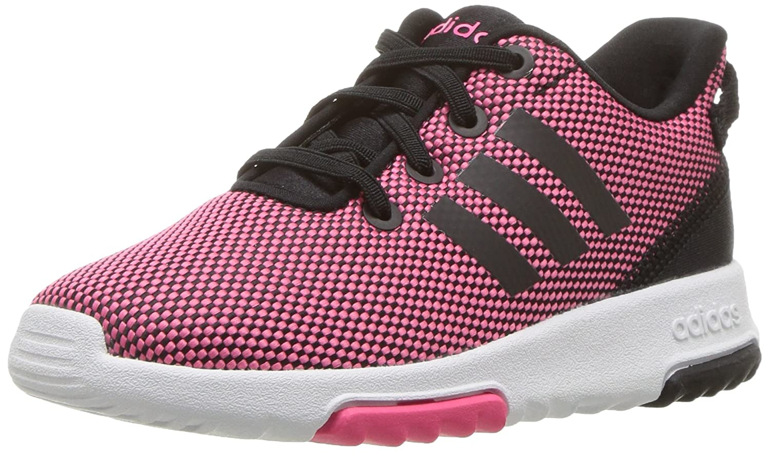 Buy adidas neo Girl's Racer Pink, Black and White TR Inf Sneaker ...