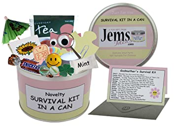 Godmother Survival Kit In A Can Novelty Fun Gift Humorous