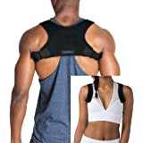 Discreet Posture Corrector for Men and Women That Provide Clavicle and Shoulder Support, Relieve Pain, Improve Thoracic Kyphosis, Prevent Slouching | Under Clothes Upper Back Brace | Regular Size