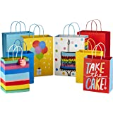 """Hallmark 9"""" Medium and 13"""" Large Gift Bags Assortment (Pack of 8; 4 Large and 4 Medium) for Birthdays, Baby Showers or Any Oc"""
