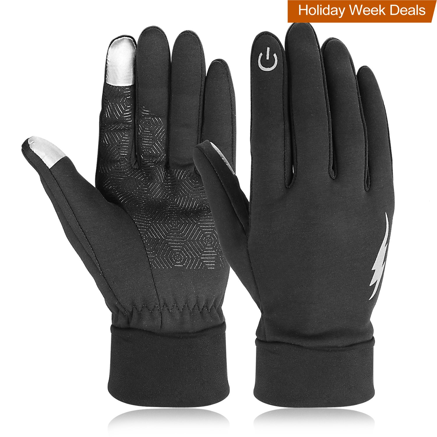 Winter Gloves, HiCool Touch Screen Gloves Driving Gloves Running Cycling Gloves Outdoor Indoor Thermal Warm Gloves for Men and Women (L, Black)