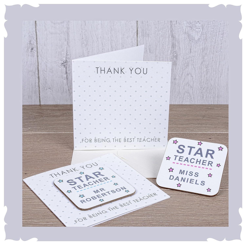 Regalo personalizado para profesora y profesora, una tarjeta ...