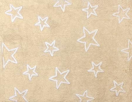 Aratextil Estrella Alfombra Infantil, Algodón, Beige, 120x160 cm ...