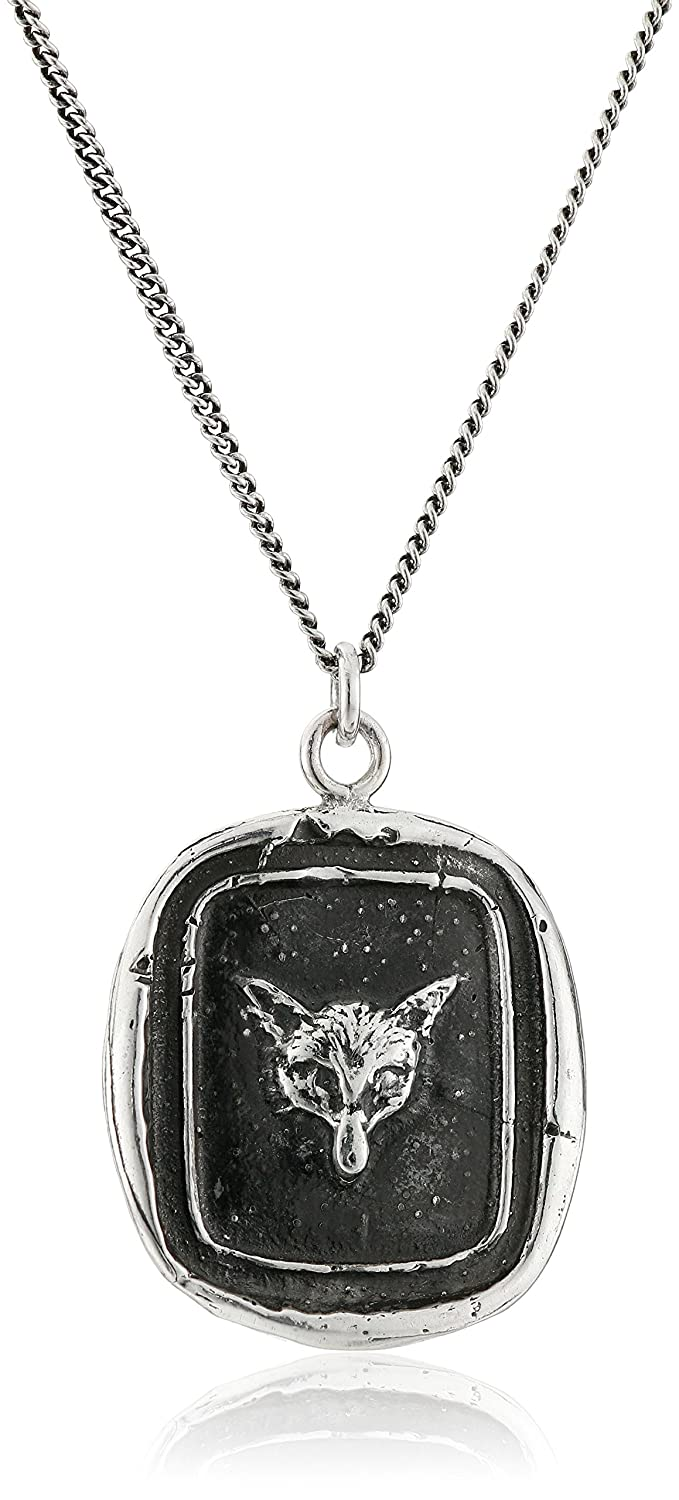 Pyrrha Unisex Fox Sterling Silver Talisman Pendant Necklace Pyrrha Design Inc N1910-18