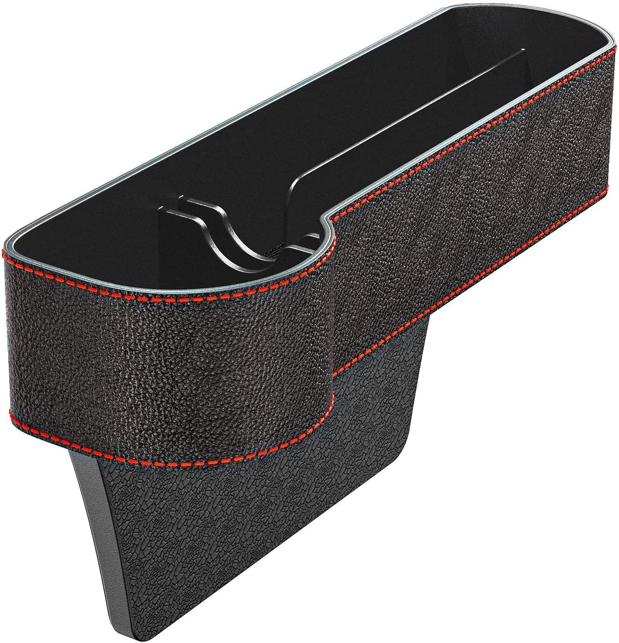 Car Seat Gap Organiser Side Gap Pocket PU Leather Car Tidy Organiser Front Seat Catcher Storage with Coin /& Cup Holder Car Organizer Storage Box L Universal Seat Storage Gap Filler