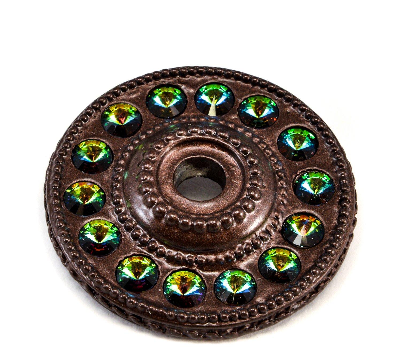 Carpe Diem Hardware 883-12VM Caché Escutcheon with Swarovski Crystals, Bronze