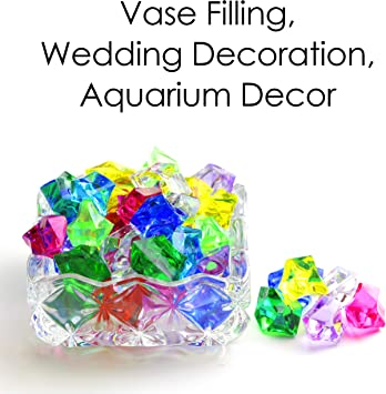 150pcs Hydroponic Acrylic Stones Aquarium Ice Rocks Decorations Ornaments Set