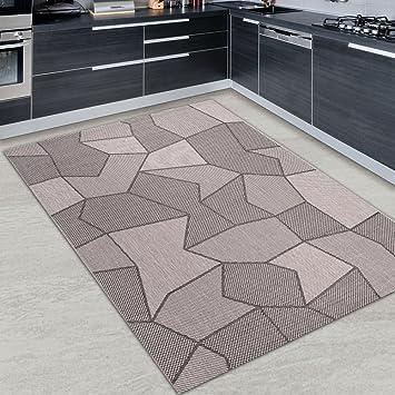 Tapis Cuisine CARRELAGE Argenté Noir Différentes Dimensions SXXL - Faience cuisine et tapis 150 x 200