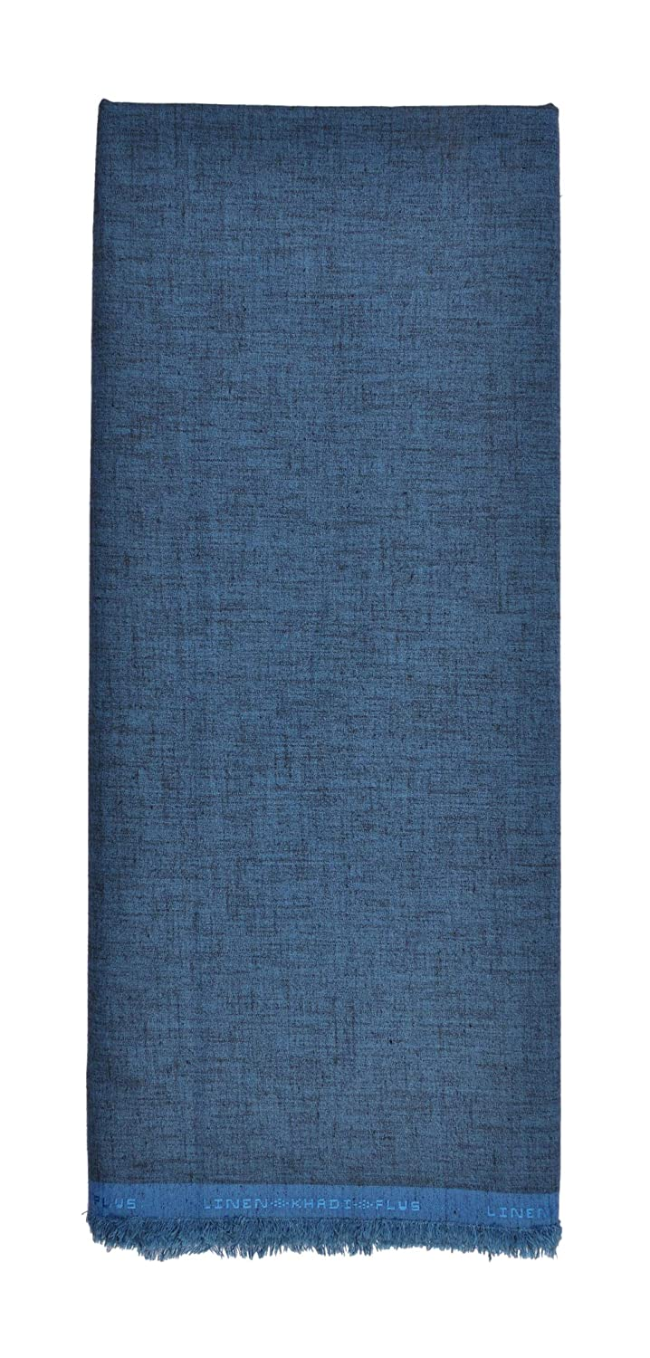 553bec1fcfe My Fabric Store Men s Poly Cotton 2.2 m Unstitched Shirt Fabric (Blue