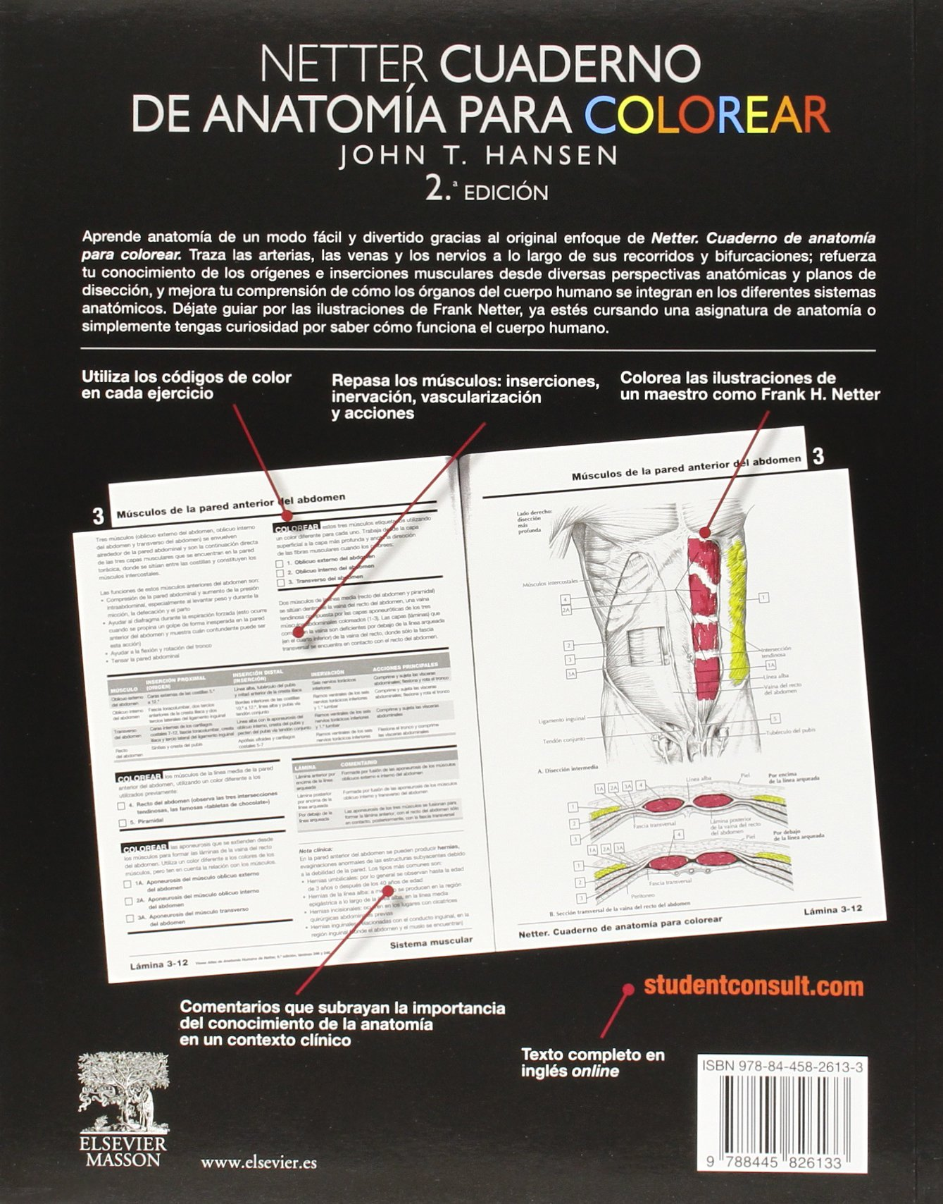 Netter. Cuaderno de anatomía para colorear. Student consult: J. T. ...