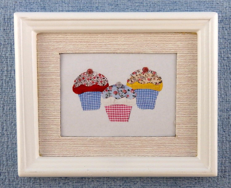 Puppenhaus Miniatur Zubehör Cupcakes Bild Gemälde weißer Rahmen ...