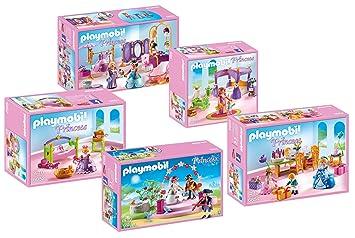 playmobil 6848 grand chateau de princesse meubles set compos de 6850 6851