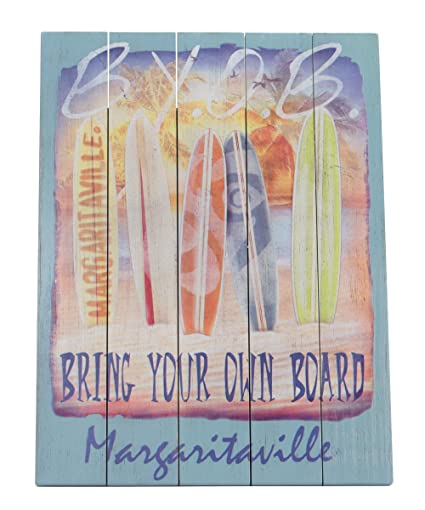 Amazon Com Margaritaville Outdoor Indoor Outdoor Wood Wall Art