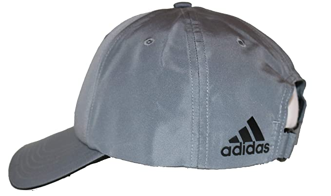 e06243d639d Amazon.com  adidas A605 Performance Poly Relaxed Golf Hat with Rear Logo  (Black)  Clothing