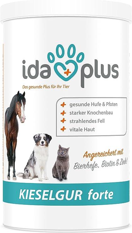 Ida Plus – diatomita Forte 400 g para gatos admite la piel de piel y textura, así como la garra con wertvollem Silicio (100% ecológico): Amazon.es: Productos para mascotas