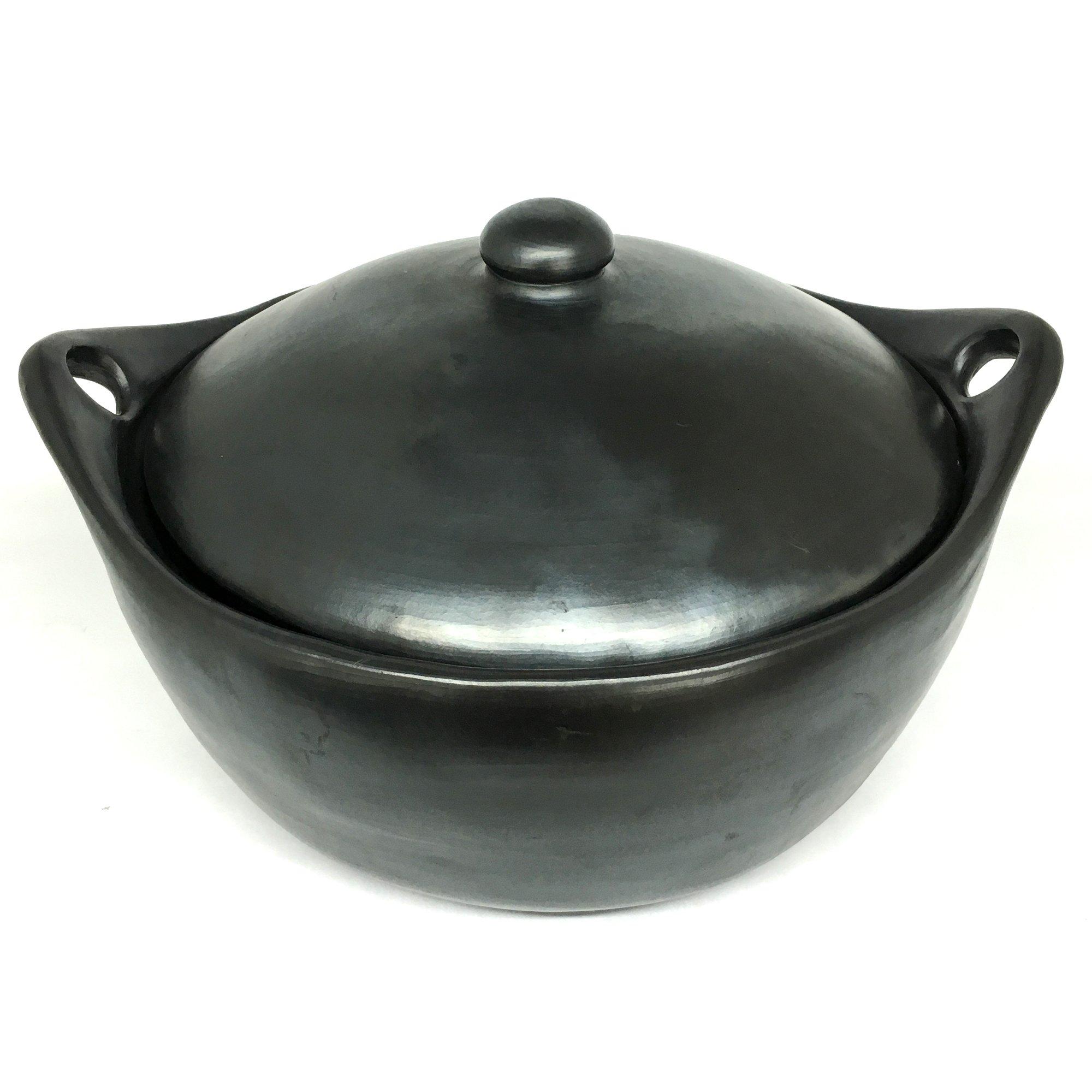 Black Clay, La Chamba Stew Pot - Colossal - 13.5 Quarts
