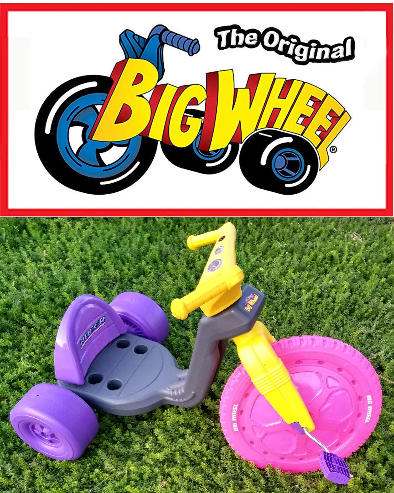 The Original Big Wheel Trike 16'' Gray, Pink & Purple with Pink Decals