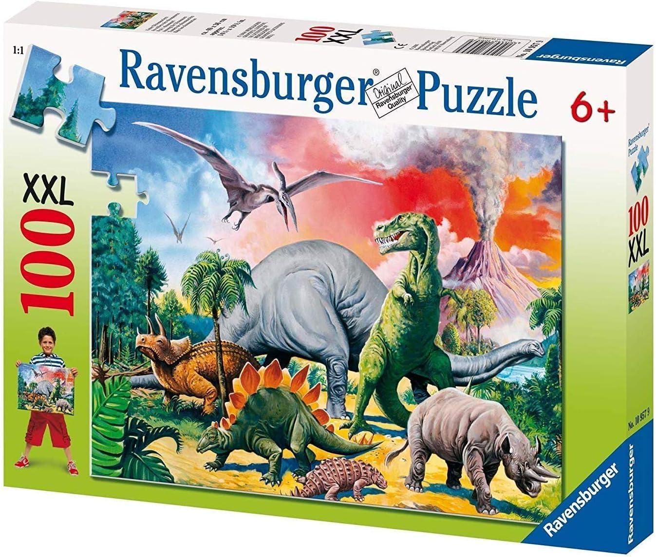 Puzzle enfant Au Milieu Des Dinosaures Ravensburger 100 Pi/èces