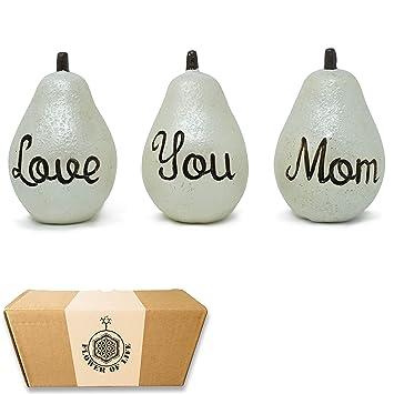 Amazon.com: Regalo para mamá – Love you mamá peras – día de ...
