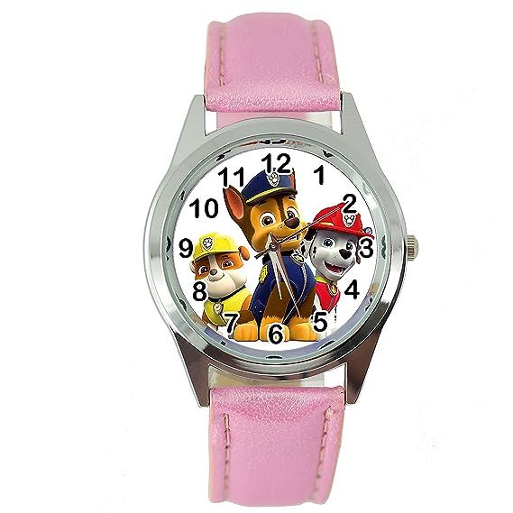 Reloj redondo, de cuarzo, con diseño de La Patrulla Canina, de Taport,