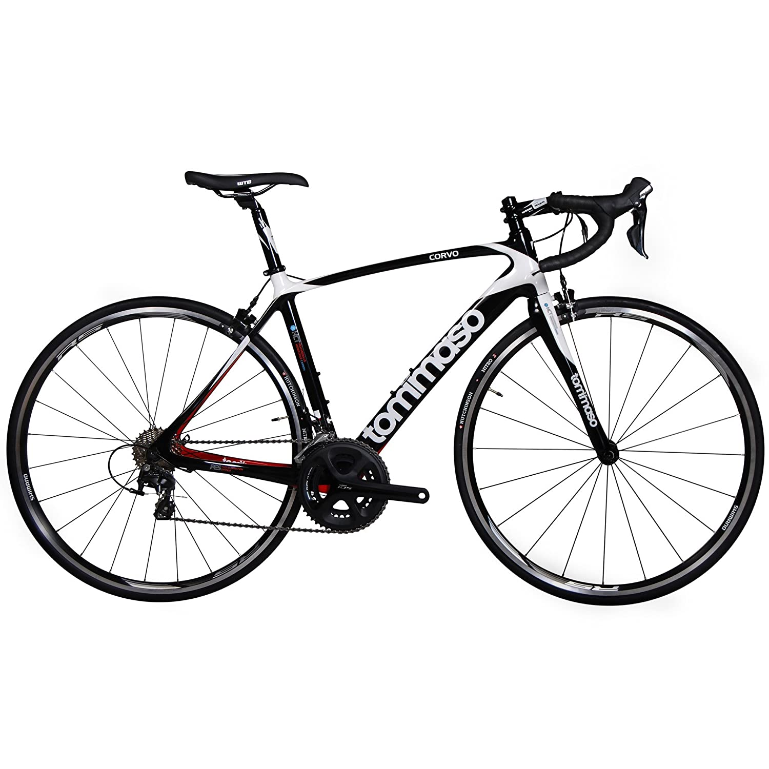 Carbon Fiber Road Bike >> Amazon Com Tommaso Corvo Carbon Fiber Endurance Road Bike Shimano