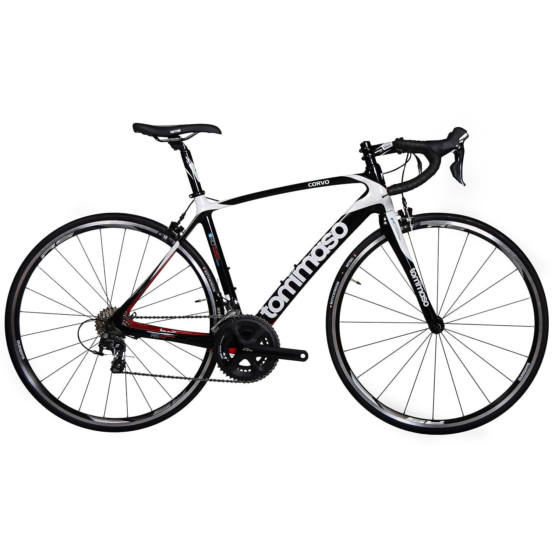 Carbon Fiber Bikes >> Amazon Com Tommaso Corvo Carbon Fiber Endurance Road Bike Shimano
