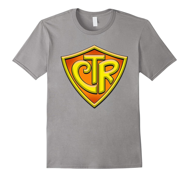 CTR - Choose The Right LDS Mormon T-Shirt - Yellow/Orange-T-Shirt