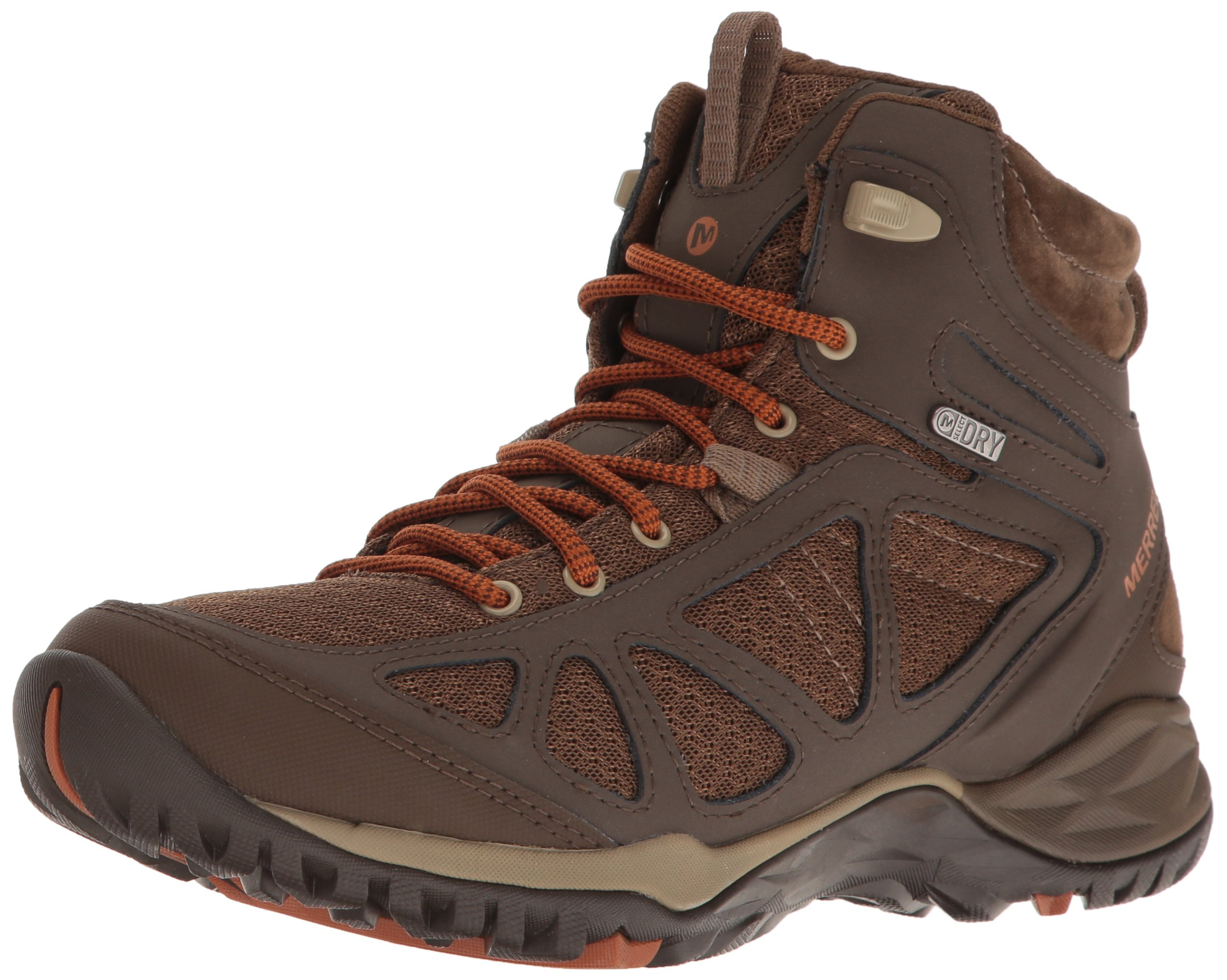 Merrell Women's Siren Sport Q2 Mid Waterproof Hiking Boot, Slate Black, 6 M US by Merrell