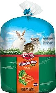 Kaytee Timothy Hay Plus, Carrot, 48-Ounce, Standard Packaging