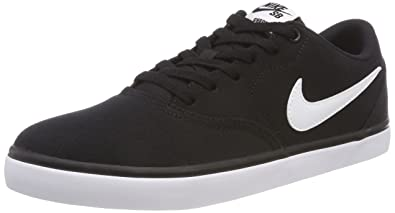 1be60cb8cea9 Nike Men s Sb Check Solar CNVS Black White Skateboarding Shoes-10 UK India