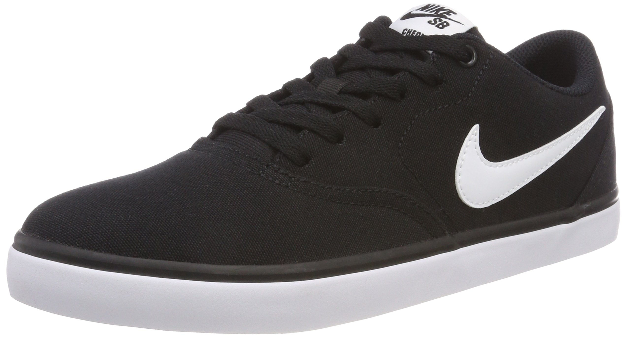 online store 707a1 baee4 Galleon - Nike Men s SB Check Solarsoft Canvas Skateboarding Shoe  Black White 12