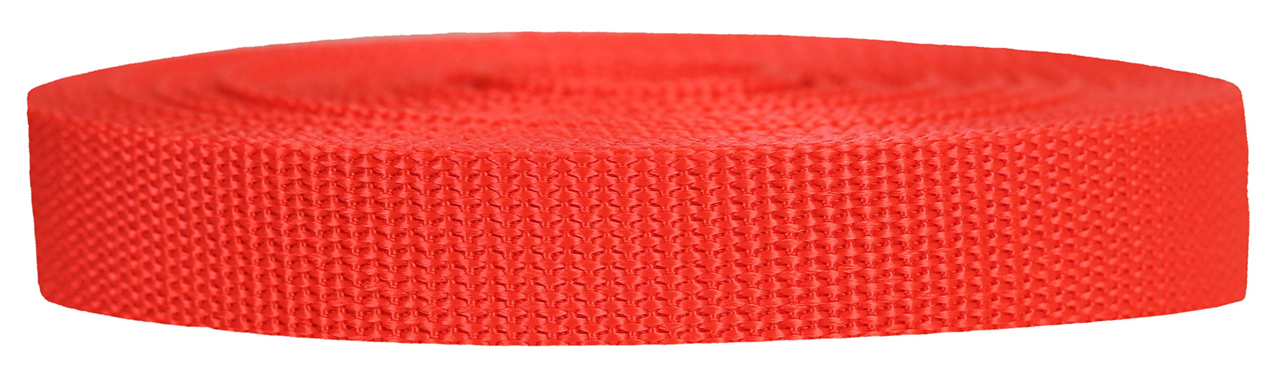 Strapworks Heavyweight Polypropylene Webbing - Heavy Duty Poly Strapping for Outdoor DIY Gear Repair, 3/4 Inch x 25 Yards, Blood Orange by Strapworks