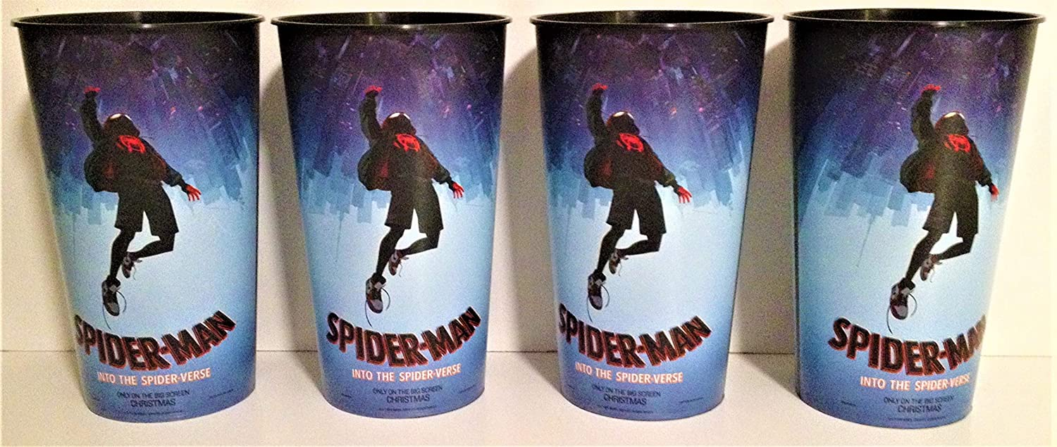 Marvel Comics: Spider-Man Into the Spider-Verse Movie Theater Exclusive Four 44 oz Plastic Cups