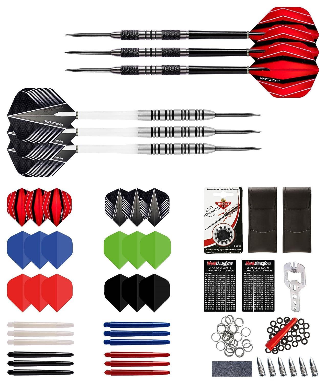 Red Dragon Colección de Dardos Última 21g e 23g con 6 conjuntos de Dardos checkout card
