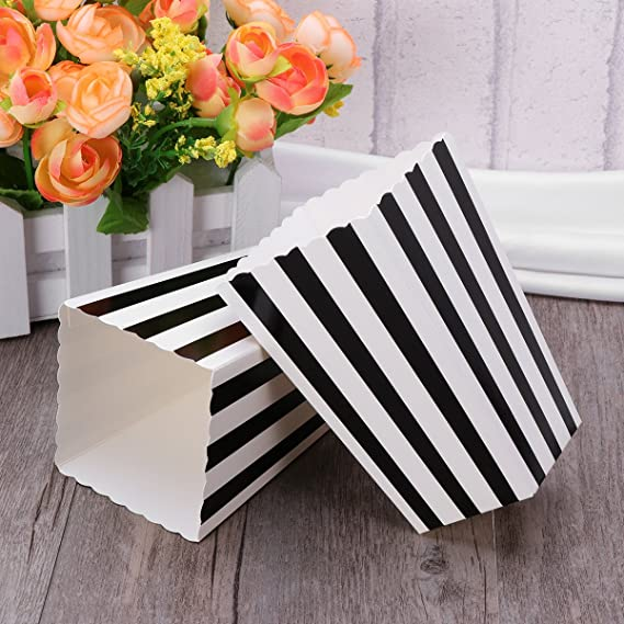 NUOLUX 24pcs popcorn boxes cajas de palomitas envases cajas de ...