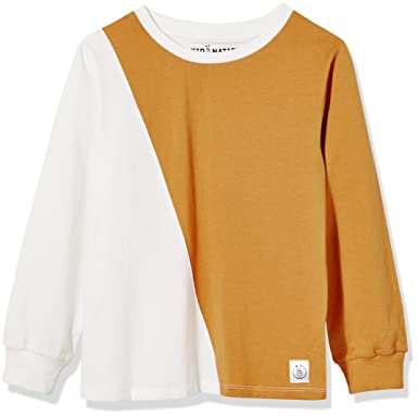 eb655a89ee9 Amazon.com: Kid Nation Kids' Two Color Cotton Jersey Long Sleeve T-Shirt:  Clothing