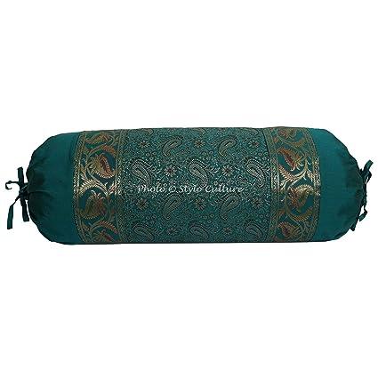Cuscino Cilindrico Per Yoga.Stylo Culture Ethnic Polydupion Cuscino Cilindrico Yoga