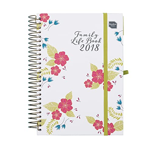 2018 Boxclever Press Family Life Book Diary. Week to View A5 planner. With columns for 7 people. Use straight away until December 2018