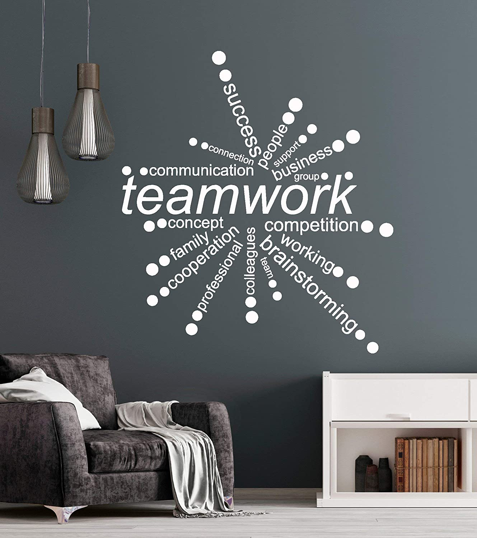 Vinyl Wall Decal Teamwork Words Office Decor Business Stickers ig4342